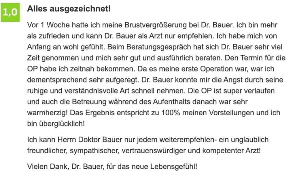 Dr. med. Patrick Bauer Jameda Bewertung