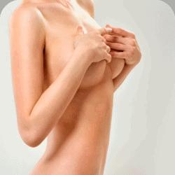 seitliche perspektive der weiblichen brust